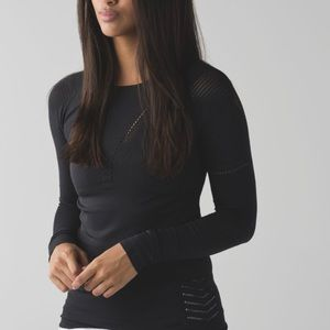 Lululemon Light-speed Long Sleeve Black size 6